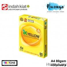 IK Yellow A4 White Paper 80gsm 450 Sheets/Ream