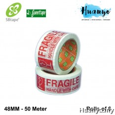 Sweettape OPP Fragile Tape 48MM (Rolls of 6)