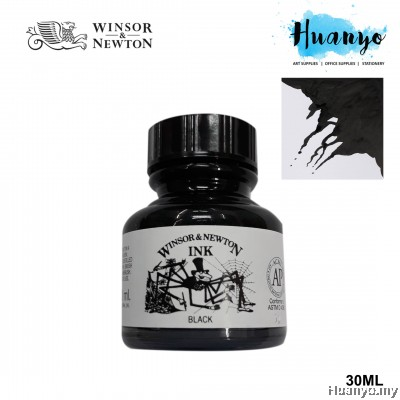 Winsor & Newton Drawing Ink - Black(30ml)
