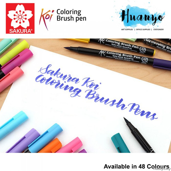 Koi Coloring Brush Pen (Available in 48 Colours) List 2/3