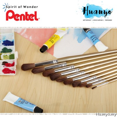 Pentel Brush Pony Hair ZBS1 - Round