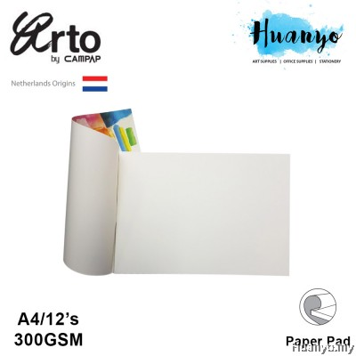 Campap Arto Netherlands Watercolour Painting Pad  A4 - 300gsm (100% Cotton, Cold Pressed,Medium Surface)