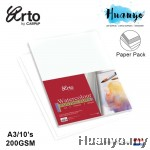 Campap Arto Netherlands WaterColour Painting Paper A4 / A3 - 200gsm (Cellulose, Medium Surface, Red Cover)