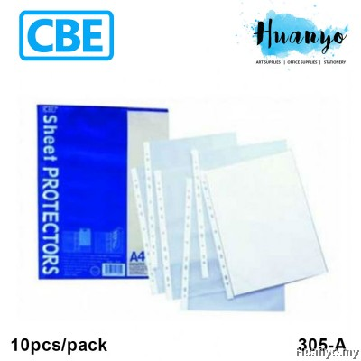 CBE Sheet Protector 305A A4 10's/pack