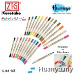 Zig Fabricolor Twin Tip Fabric Marker Pen (List 1/2)
