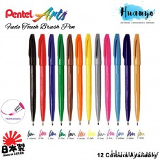 Pentel Fude/Fudemoji Touch Brush Sign Pen (Individual Pcs)
