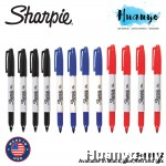 Sharpie Permanent Marker Fine (Set of 12, Black/Blue/Red)