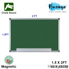 Aluminium Frame Magnetic Green Chalk Board (1.5'X 2')