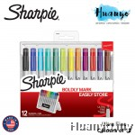 Sharpie Permanent Markers with Storage Case, Ultra Fine Point, Original Colors (Set of 12)