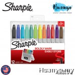 Sharpie Permanent Markers with Storage Case, Fine Point, Original Colors (Set of 12)