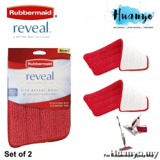 Rubbermaid Reveal Spray Mop Microfiber Cleaning Pad (Set of 2)