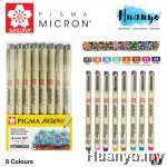 Sakura Pigma Brush Pen Set (Colours of 8)