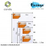 Conda Artist Stretched Canvas (A series: A5/A4/A3/A2 size)