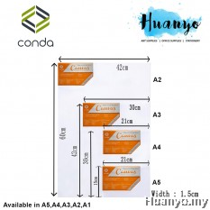 Conda Artist Stretch Canvas (A series: A5/A4/A3/A2/A1/A0 size)