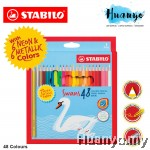 Stabilo Swans Colour Pencils With Neon and Metallic (Colours of 48)