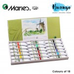 Marie's Water Colour Painting Set (18 Colour X 12ML Tube)