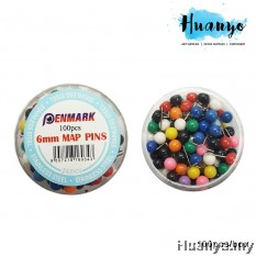 Penmark Map Pins 6MM (100pcs/box)