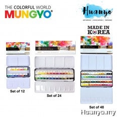 Mungyo Professional Water Colour Half Pans Metal Set (Color Set of 12 / 24 / 48)