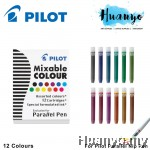 Pilot Parallel Pen Refill - Cartridges of 12 Colours