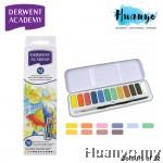 Derwent Academy Watercolour Paint Pan (Set of 12)
