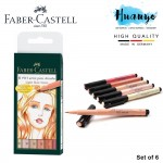 Faber-Castell PITT 6 Artist Brush Pens - Light Skin Tones