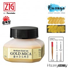 Kuretake Zig Mica Gold Calligraphy Ink - 60ML