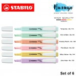 Stabilo Swing Cool Pastel Highlighter Highlight Pen (Set of 6)