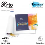 Campap Arto Watercolour Painting Pad A4 / A3 - 200gsm (Cotton, Medium Surface)