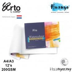 Campap Arto Water Colour Pad A4 / A3 - 200gsm (Cotton, Medium Surface)