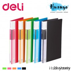 Deli PP Cover Clear Folder Display Book A4 - 20 sheets