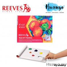 Reeves Tear-Off Palette Paper Pad with 40 Sheets, 9 x 12 Inch