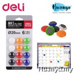 Deli Magnetic Button 15MM -12 pcs/6 Colours