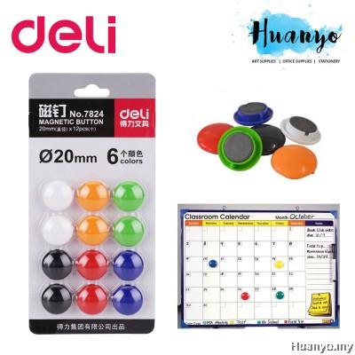 Deli Magnetic Button 15MM -12 pcs/6 Colours