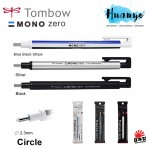Tombow MONO Zero Retractable Elastomer Eraser Pen (Round Tip)