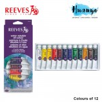 Reeves Water Mixable Oil Paint Colour (Set of 12)