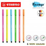 STABILO Pen 68 Marking Text Highlighter Highlight Pen (Neon and Pastel colours)