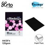 Campap Arto A4 80gsm Extra Black Paper - 20 Sheets