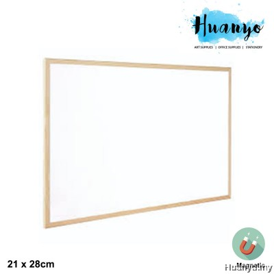 TopWrite Portable Wooden Frame Magnetic White Board (21 x 28 cm)
