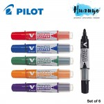 Pilot V Board Master White Board / Wyte bord Marker - Medium Bullet (Set of 6)