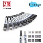 Zig Kurecolor Twin WS Colour Color Marker Cool Grays Series KC-3000 (Per PCS)