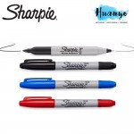 Sharpie Twin Tip Permanent Marker Fine (Black / Blue / Red)