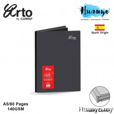 Campap Arto Hard Cover Black Paper Sketch Book A5 140GSM/80 Pages