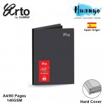 Campap Arto Hard Cover Black Paper Sketch Book A4 140GSM/80 Pages
