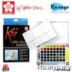 Sakura Koi Water Colours Colors Pocket Field Sketch Box - 48 Colours