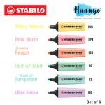 Stabilo Boss Original Pastel Highlighter Highlight Pen (Set of 6)