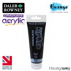 Daler Rowney Graduate Acrylic Paint Colour 120ML (No.026 Black)