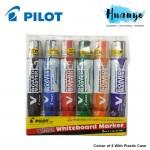 Pilot V Board Master White Board Wyte bord Marker Medium Bullet 6 pcs With Case