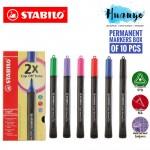 Stabilo Cappi Permanent Marker Pen (Box of 10)