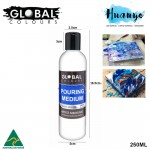 Global Colours Acrylic Fluid Painting Pouring Medium - 250ML