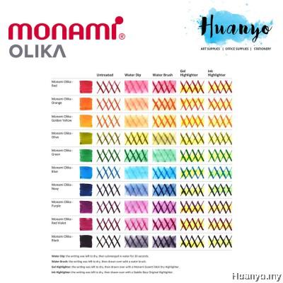 Monami Olika Calligraphy Refillable Fountain Pen - Fine (Free 2pcs Ink)